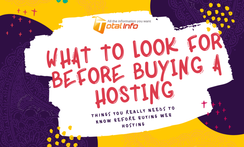 What To Look For Before Buying A Hosting